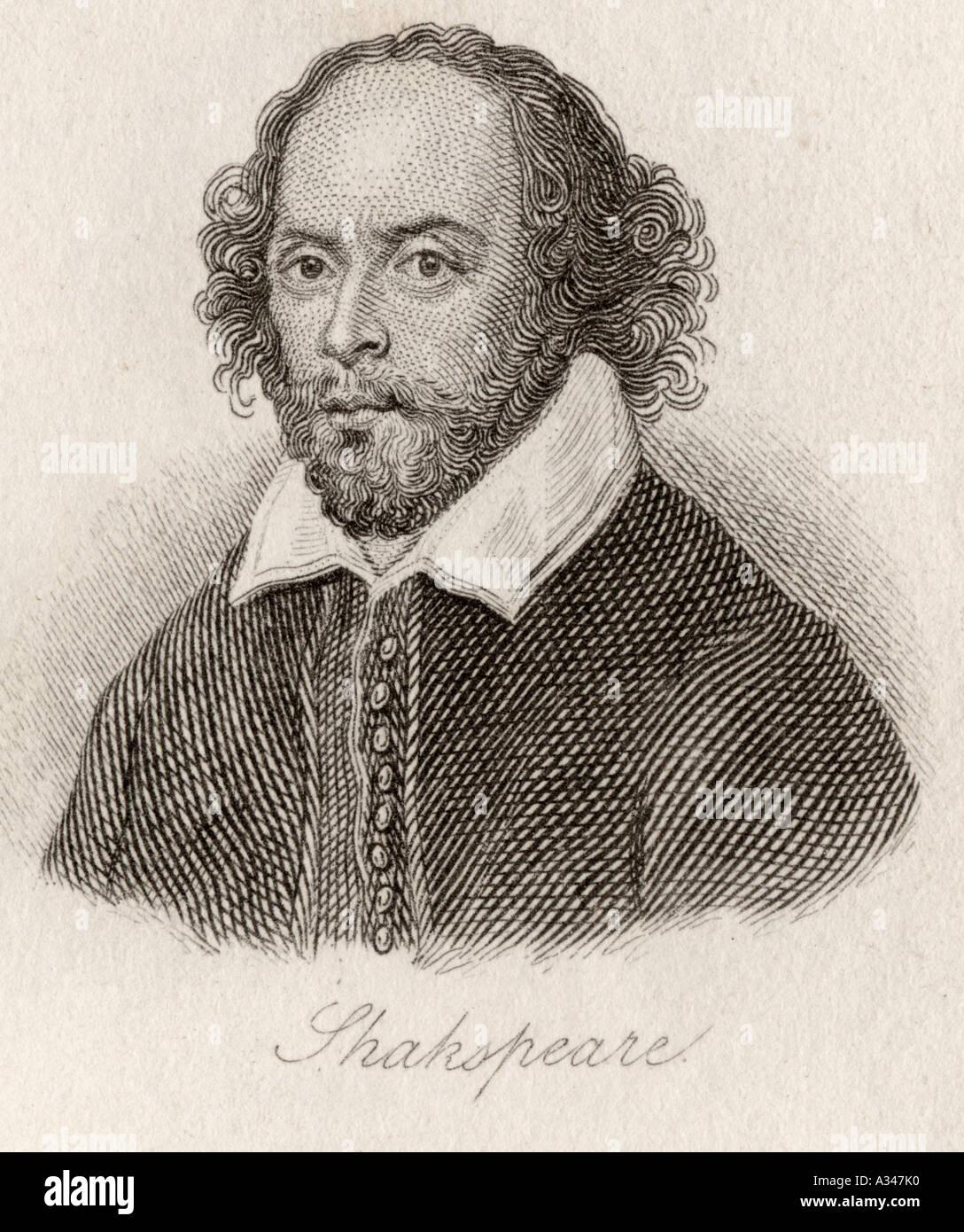 Illustration Portrait Shakespeare William Stock Photos
