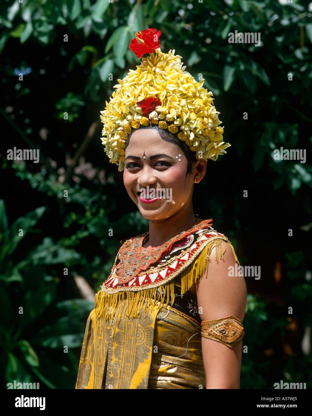 bali dancer smiling stock