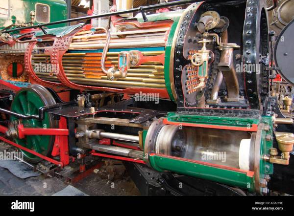 Steam Train Museum Science Industry Stock &