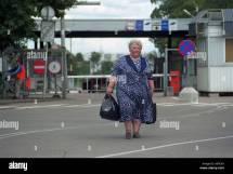 Estonian-russian Border Crossing In Narva Stock
