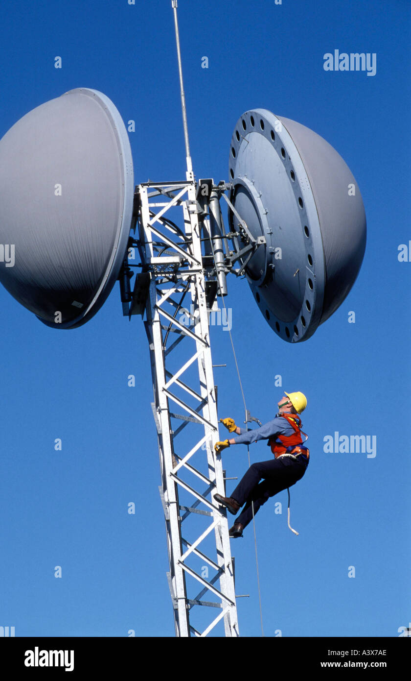 https www alamy com radio microwave link and linesman photo by bruce miller image2025389 html
