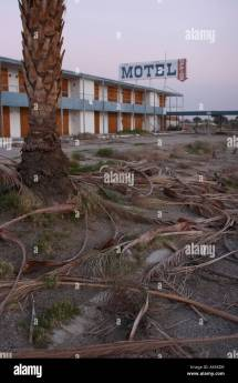 Abandoned Motel Shore Of Salton Sea California