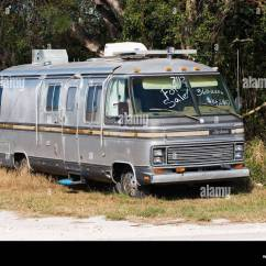 Camping Trailer Usa Warn Winch 4 Solenoid Wiring Diagram Florida Airstream 290 Rv Camper For Sale Stock Photo