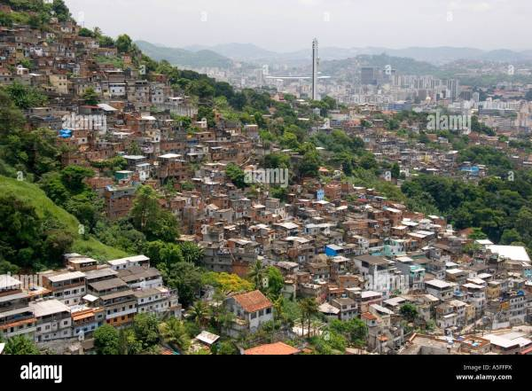Hillside favela in Rio de Janeiro Brazil These slums are