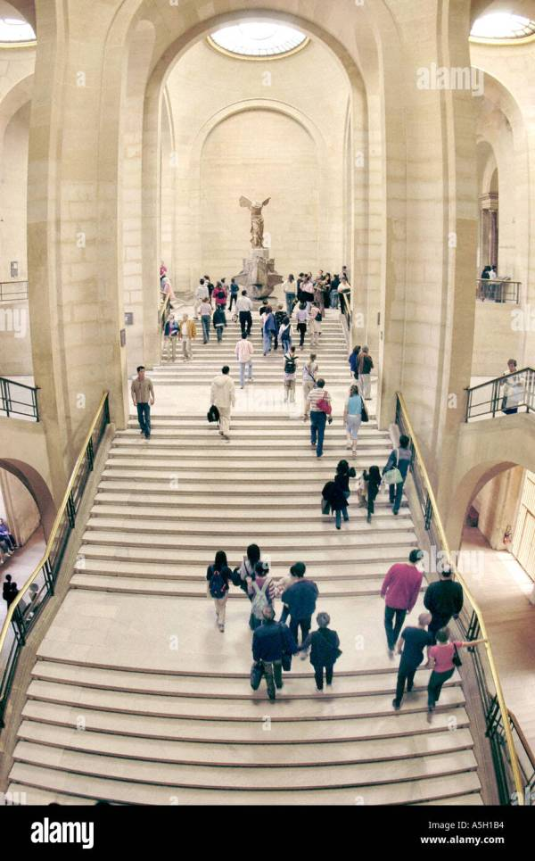 "Paris France Interior ""louvre Museum"" Stairway In Denon"