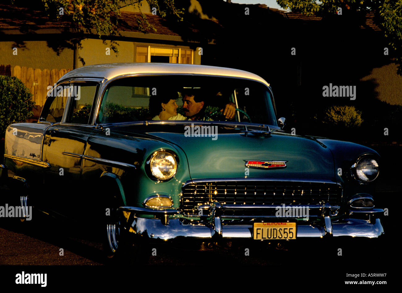 hight resolution of cruising in california gary and sharon flud dated in this 1955 chevy belair they are the