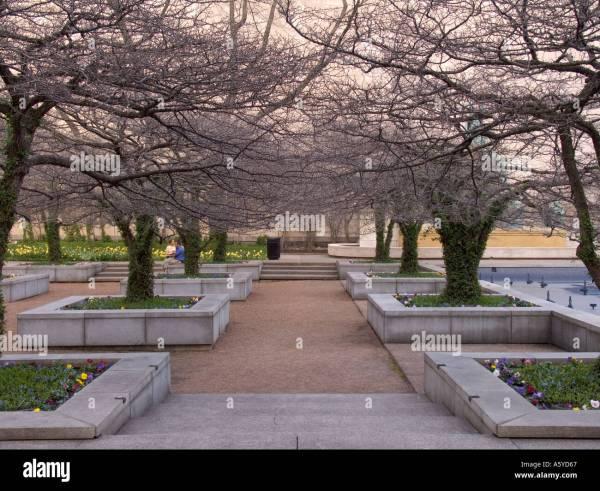 Garden Art Institute Of Chicago In Early Spring