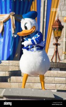 Donald Duck Stage Magic Kingdom Orlando Florida Usa