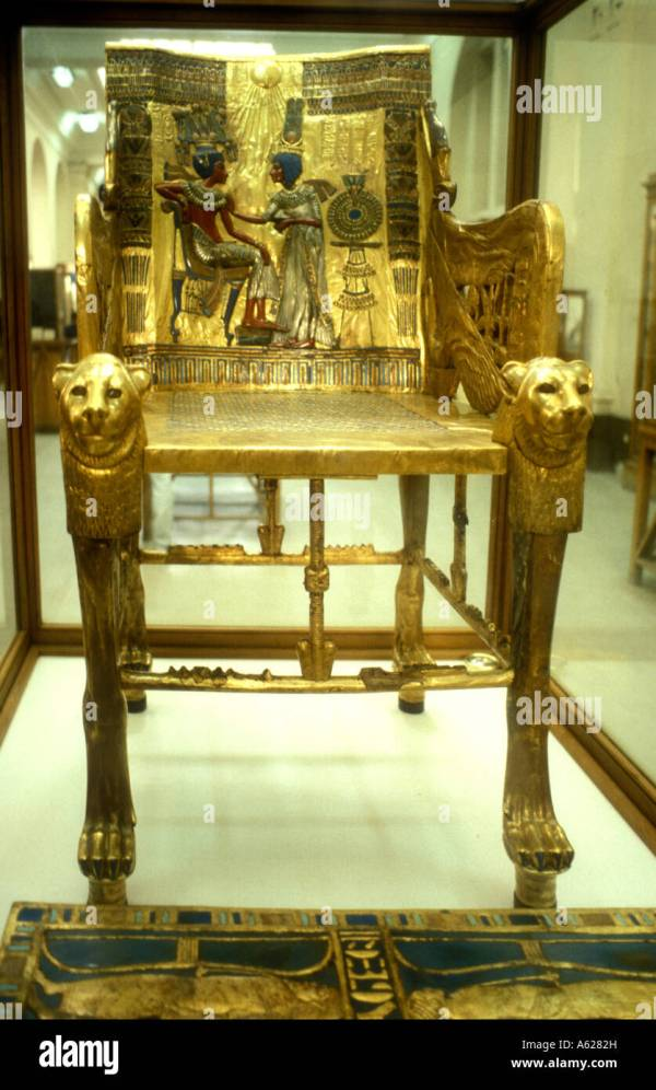 Tutankhamun Throne Stock &