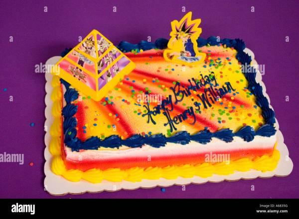 Yu Gi OH Cake Happy Birthday