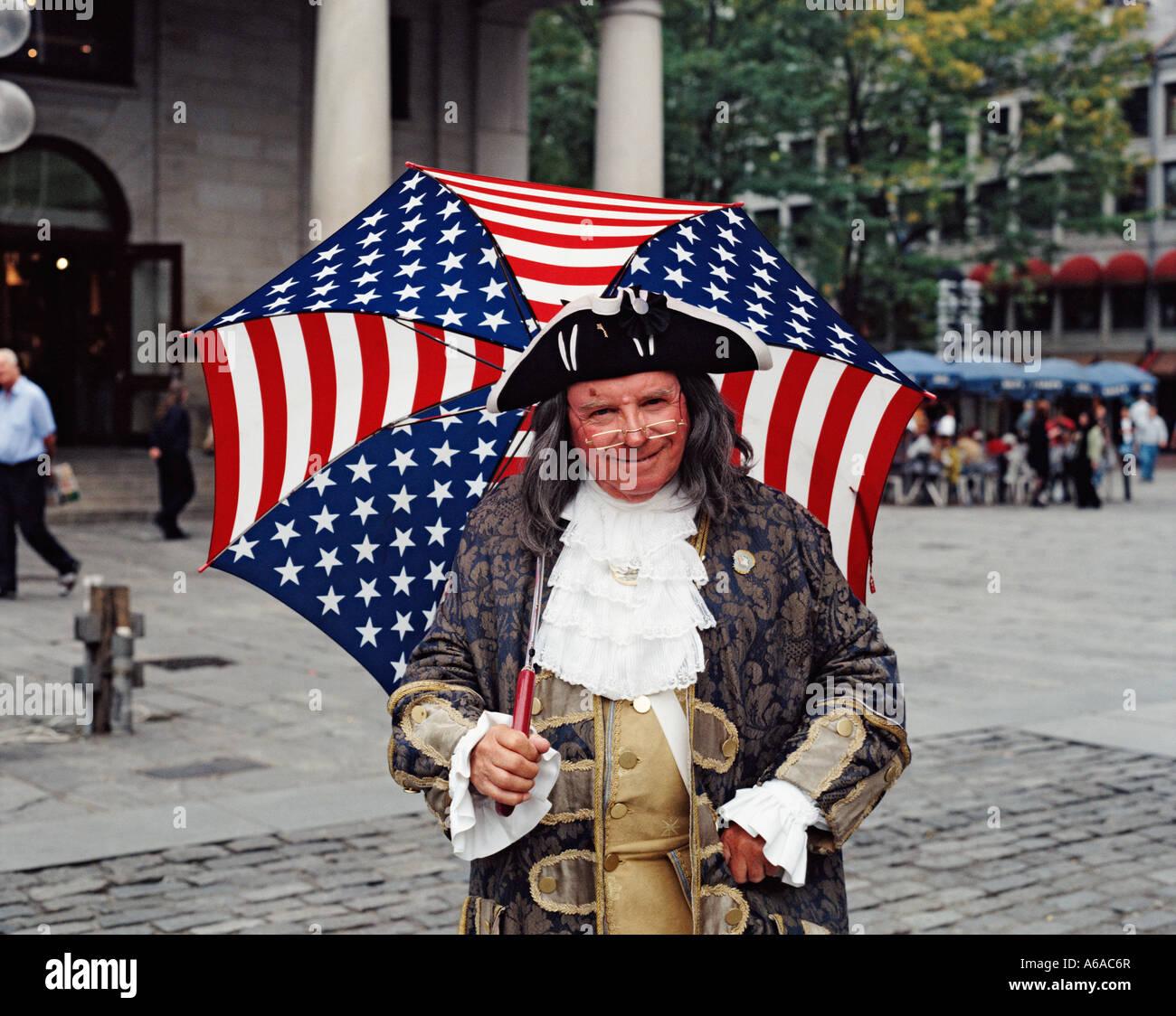 Usa Massachusetts Boston Benjamin Franklin Character At