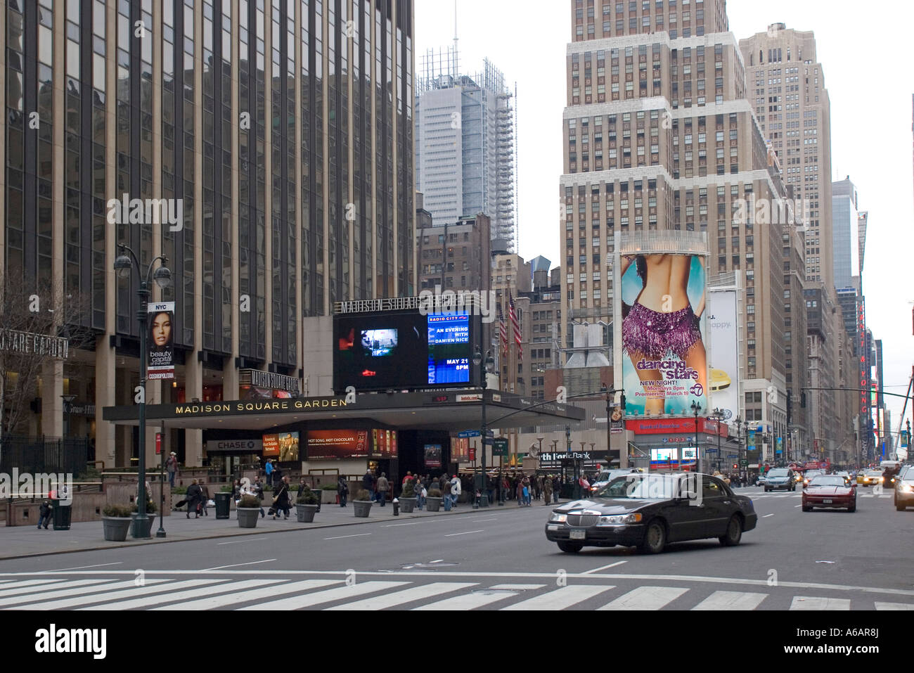 Penn Station and Madison Square Garden Seventh Avenue New