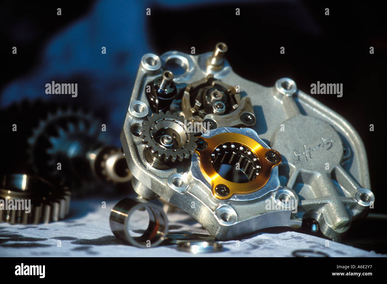 hight resolution of motorcycle racing gearbox