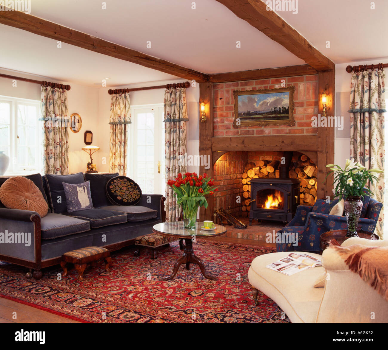 country living rooms uk paint colors for room 2018 a traditional berkshire stock photo 3777361