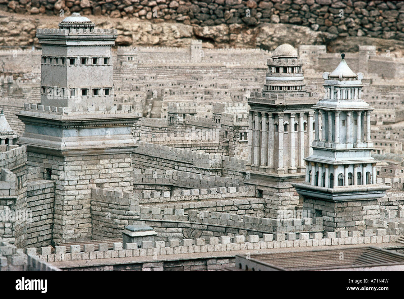 Geography Travel Israel Jerusalem Miniature Of Town