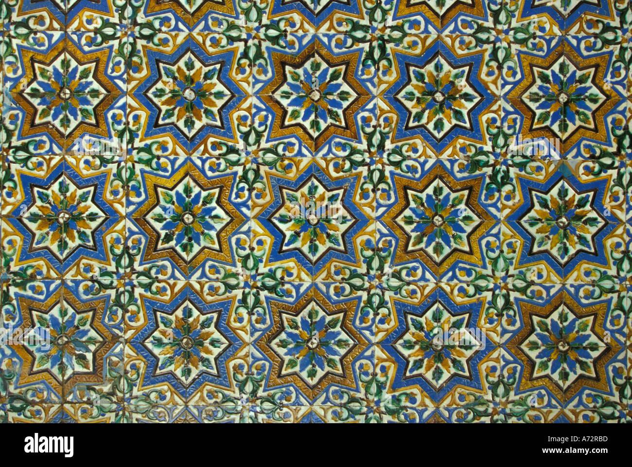 Spain Sevilla Andalucia Moorish Mosaic Azulejos ceramic