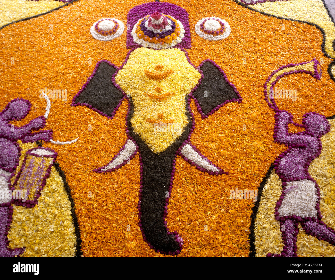 A FLOWER CARPET KERALA Stock Photo: 11727199