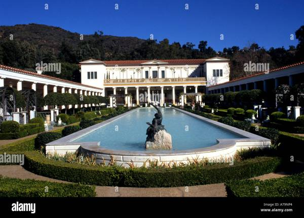 Paul Getty Museum Malibu United States California Stock