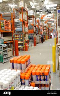 Interior of Home Depot home Improvement Store Stock Photo ...