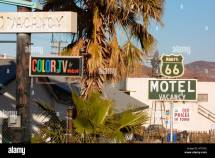 Route 66 Motel Barstow California Stock Royalty