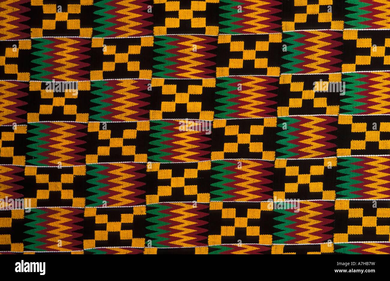 Kente Cloth Ghana Stock Photos & Kente Cloth Ghana Stock