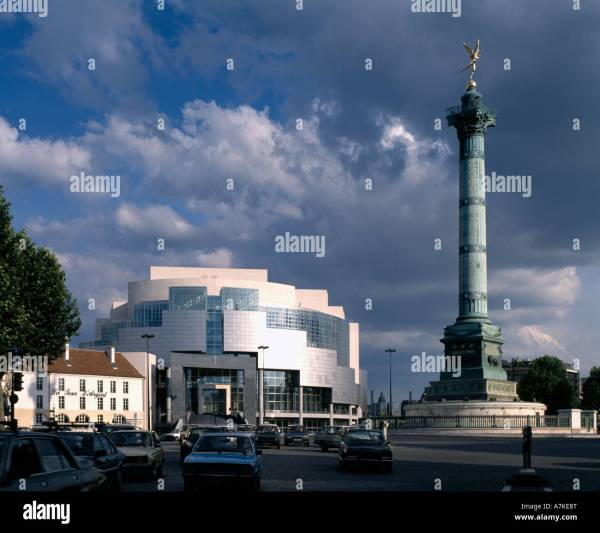 Opera Bastille Paris. Architect Carlos Ott Stock