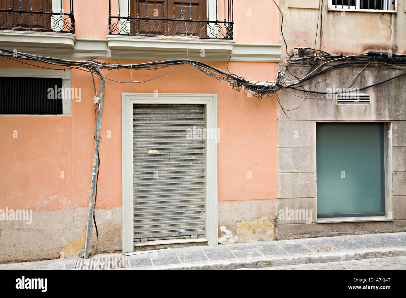 hight resolution of dangerous exposed electrical wiring on outside of house granada spain