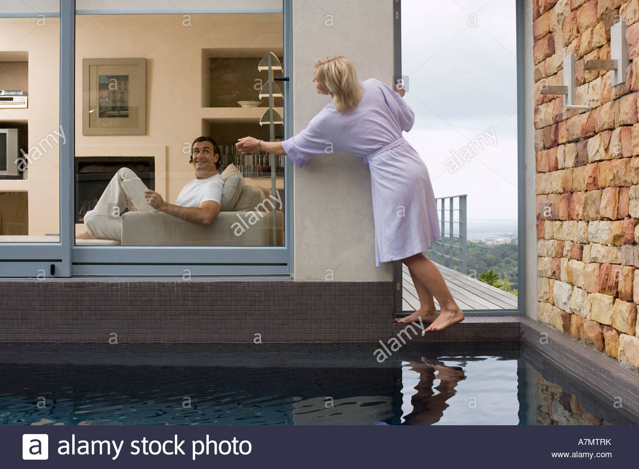 sofas on credit for unemployed sectional lazy boy man knocking door stock photos and