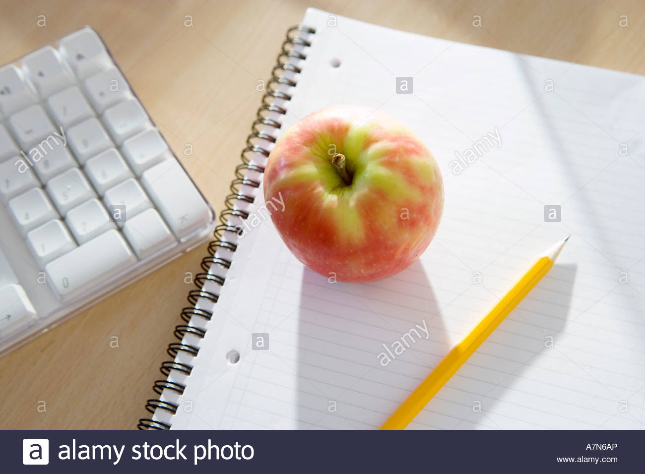 apple notepad and pencil