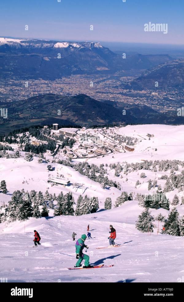 Grenoble And Ski Stock &