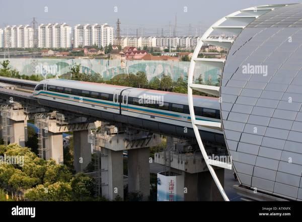 Asia China Shanghai MagLev Magnetic Levitation train