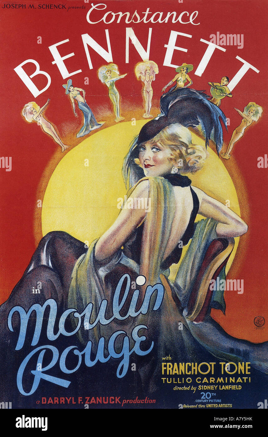 https www alamy com stock photo moulin rouge poster for 1934 tcf film with constance bennett 11934366 html