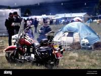 Harley Davidson motorcycle motorbike people biker camping ...