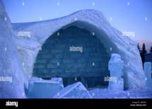 Ice Hotel Sweden And Carving Stock &