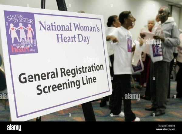 Miami Florida National Woman' Heart Day Health Fair Sign Stock Royalty Free