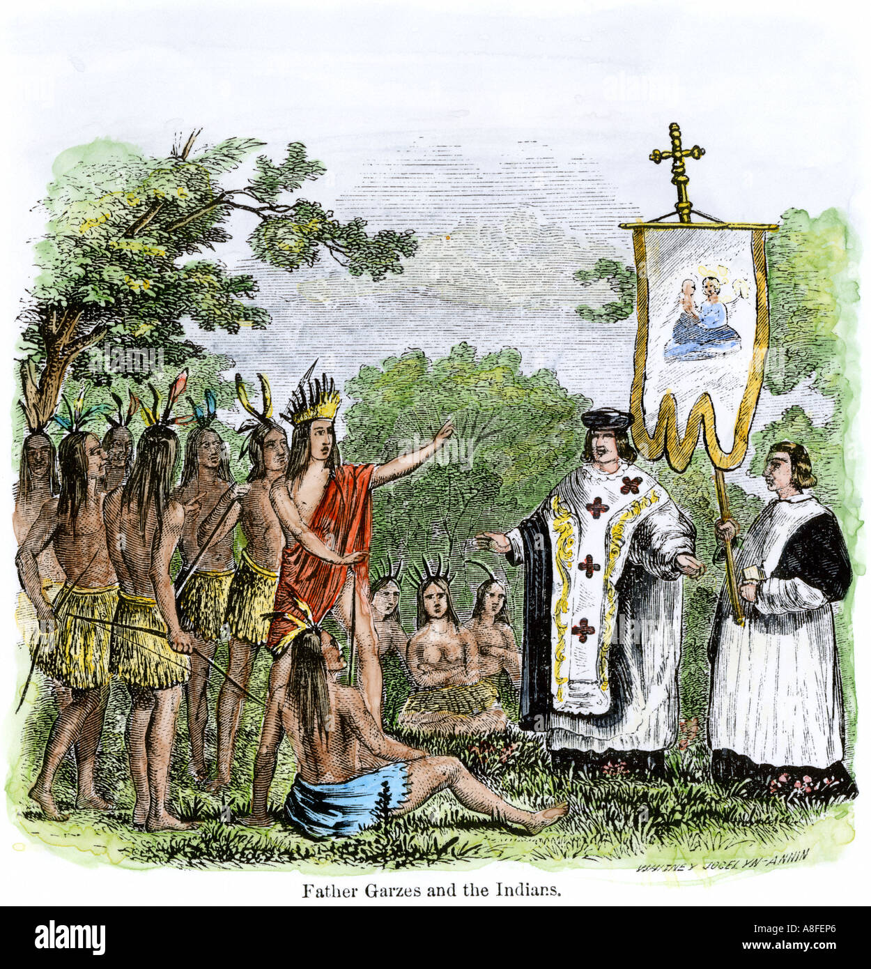 Spanish Missionary Father Garces Teaching Native Americans