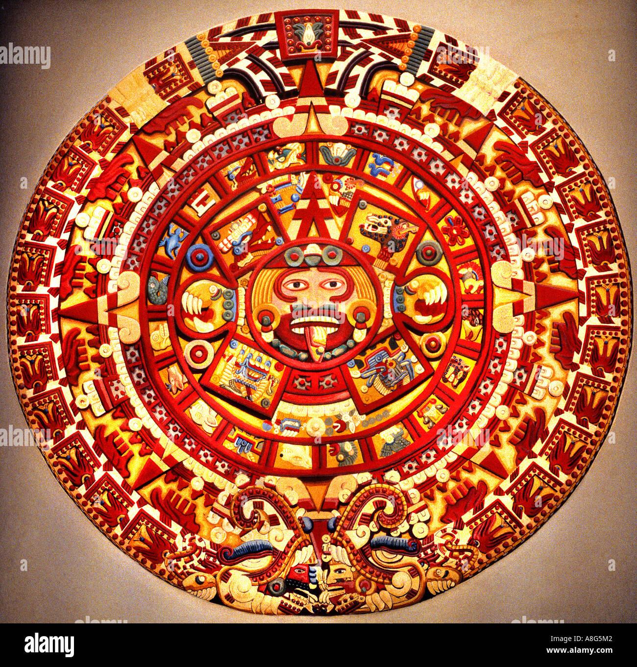 Stone Aztec Calendar Symbols
