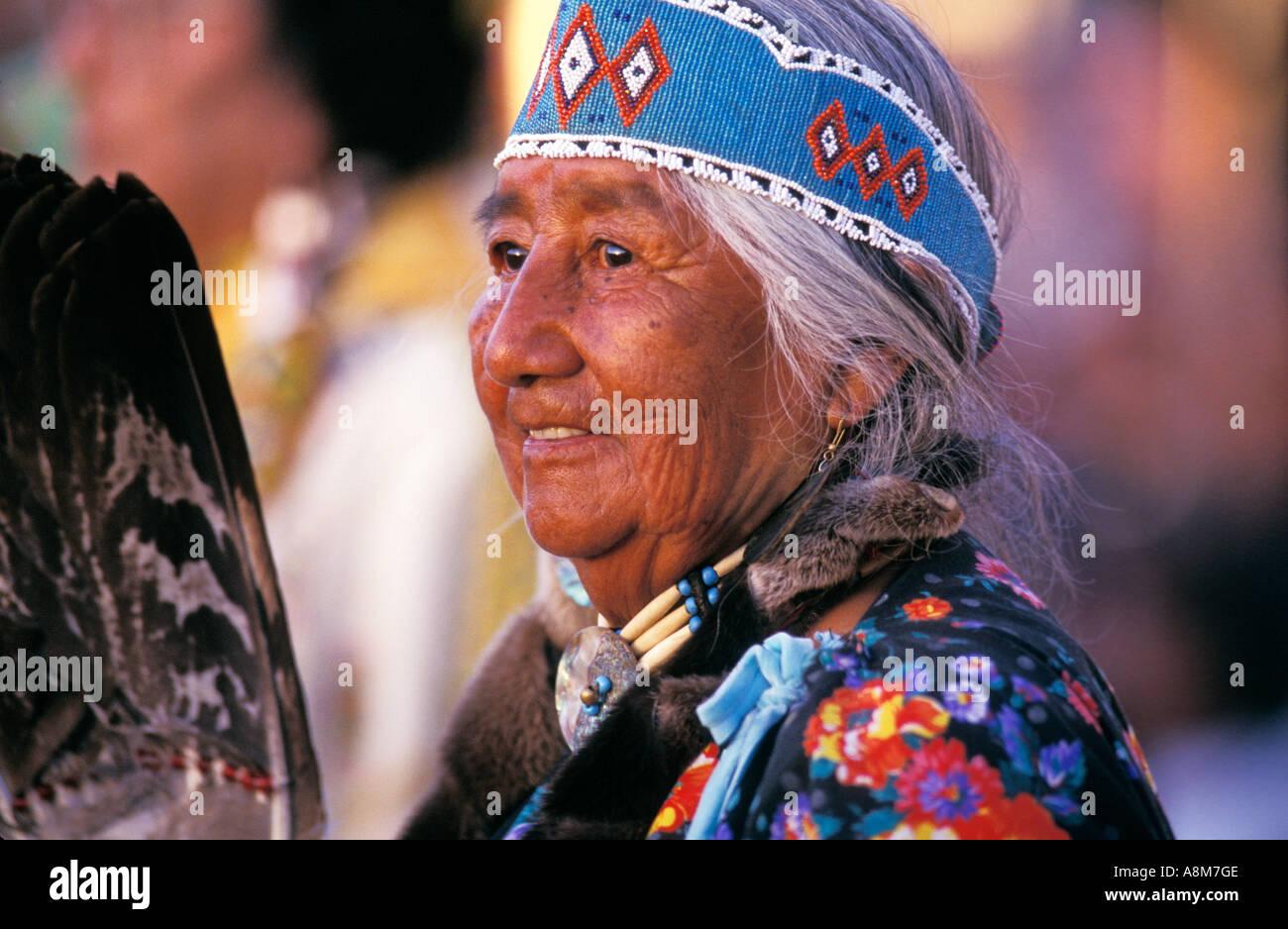 Usa Idaho Native American Woman In Tribal Dress Shoshone