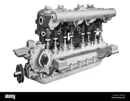 small resolution of diagram of argyll 4 6 horse power petrol car engine stock image