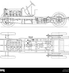 diagram of four cylinder petrol engine car chassis with chain drive stock image [ 1300 x 1228 Pixel ]