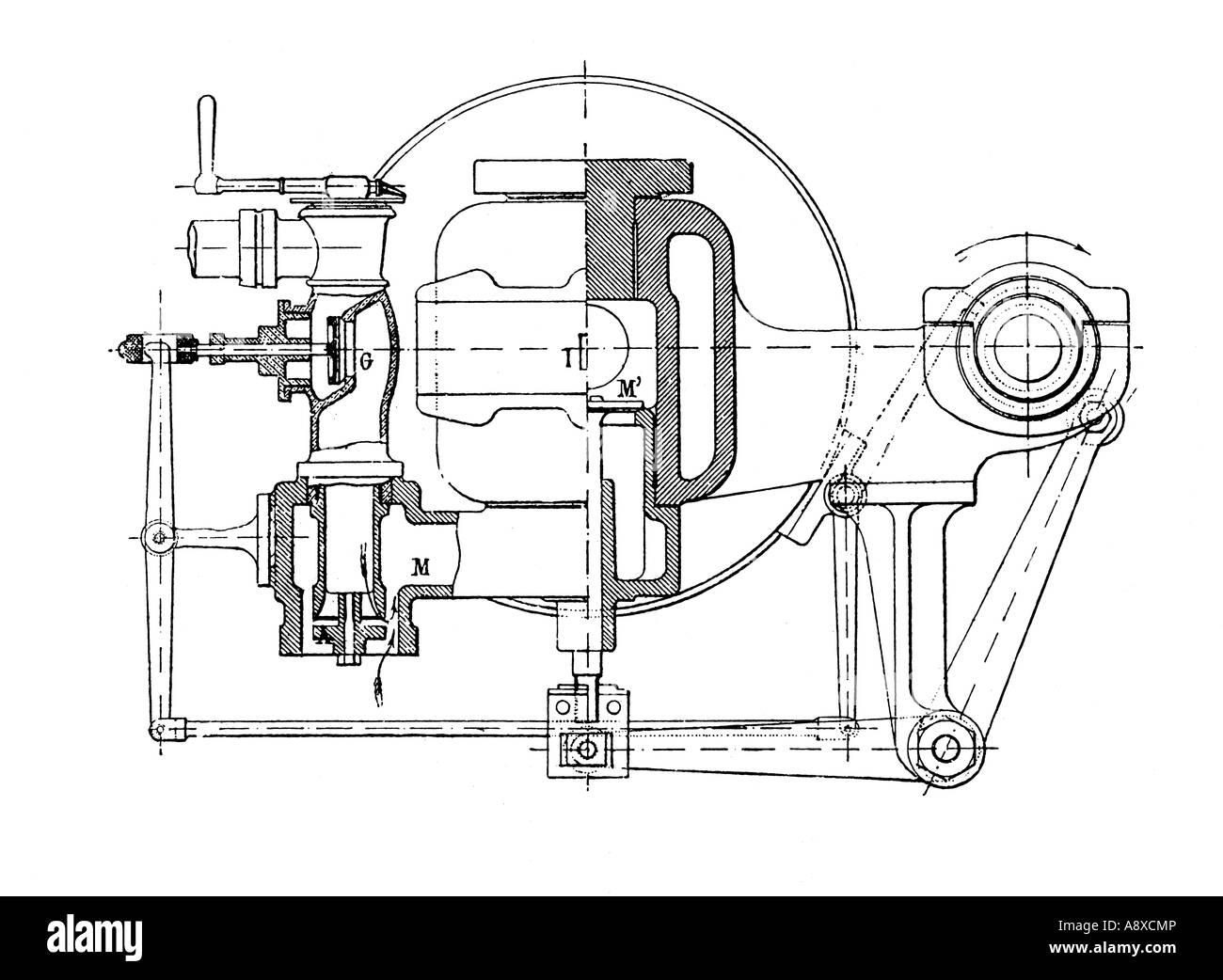 hight resolution of otto gas burning engine valves stock image