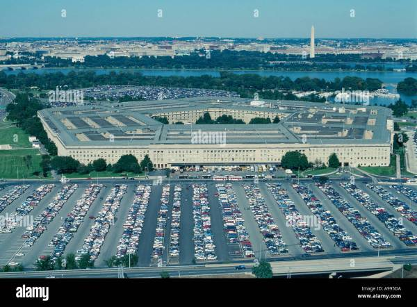Oblique Aerial View Of Pentagon And Vast Parking