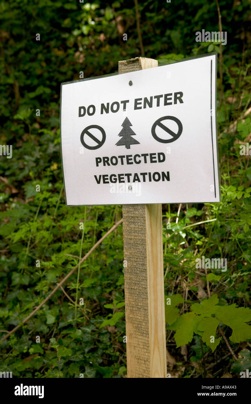 The trust has put up fences around two key areas where rainfall feeds kenya's rivers. Do Not Enter Sign For Protected Vegetation At Edge Of Forest South Wales Uk Stock Photo Alamy