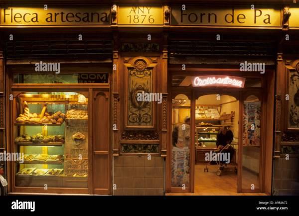 Facade And Shopwindows Of Bakery Forn De Pa