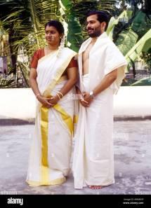 Kerala Traditional Dress Couple