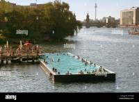 Berlin river spree summer pool Arena Stock Photo, Royalty ...