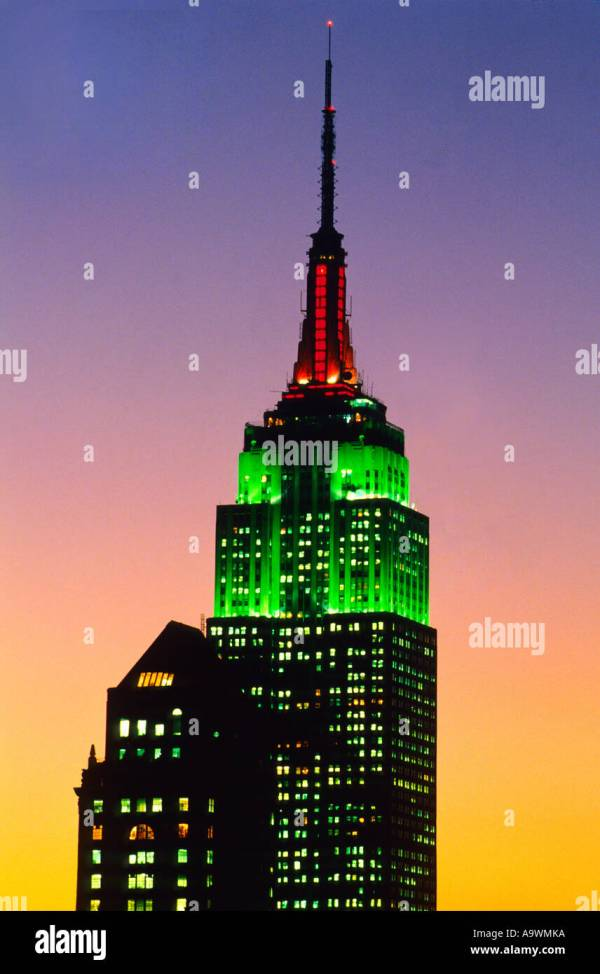 Empire State Building New York City Christmas