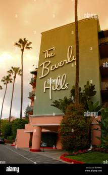Beverly Hills Hotel Room Stock &