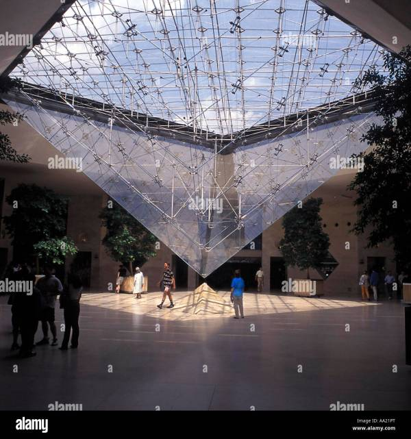 Inverted Glass Pyramid Louvre Museum Paris
