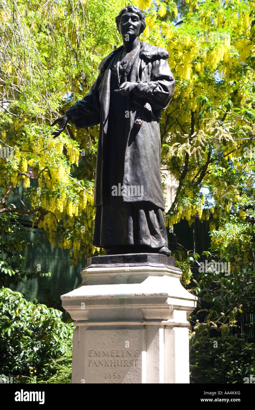 England London Emmeline Pankhurst statue Stock Photo